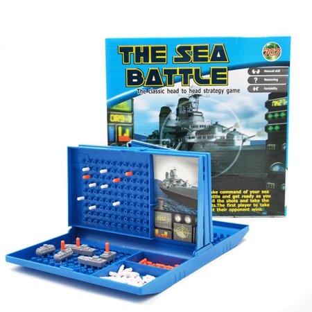 Fun Sea Ship Duel Strategy Game Naval Battle Warship Chess Building Blocks - image 1 of 6