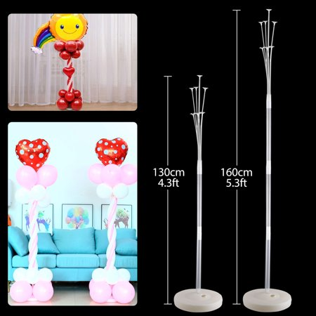 TSV Balloon Column Stand Kits - with Water Fillable Balloon Base and 4.3/5.3Ft Pole, Balloon Column Balloon Tower Decoration for Birthday Party Wedding Graduation Outdoor Indoor Event Decor ()