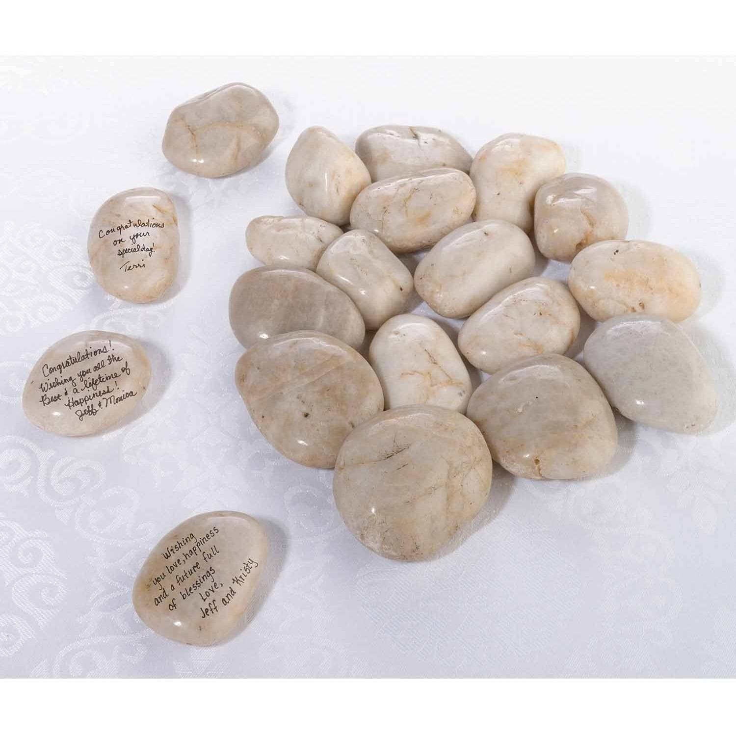 Lillian Rose Natural Signing Stones (Approx 15-20)