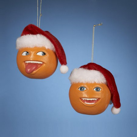 Pack of 24 Annoying Orange with Santa Hat Christmas Ornaments 2.5