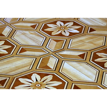 - LAMINATED POSTER Designs Bronze Wooden Floor Decorated With Fancy Poster Print 24 x 36