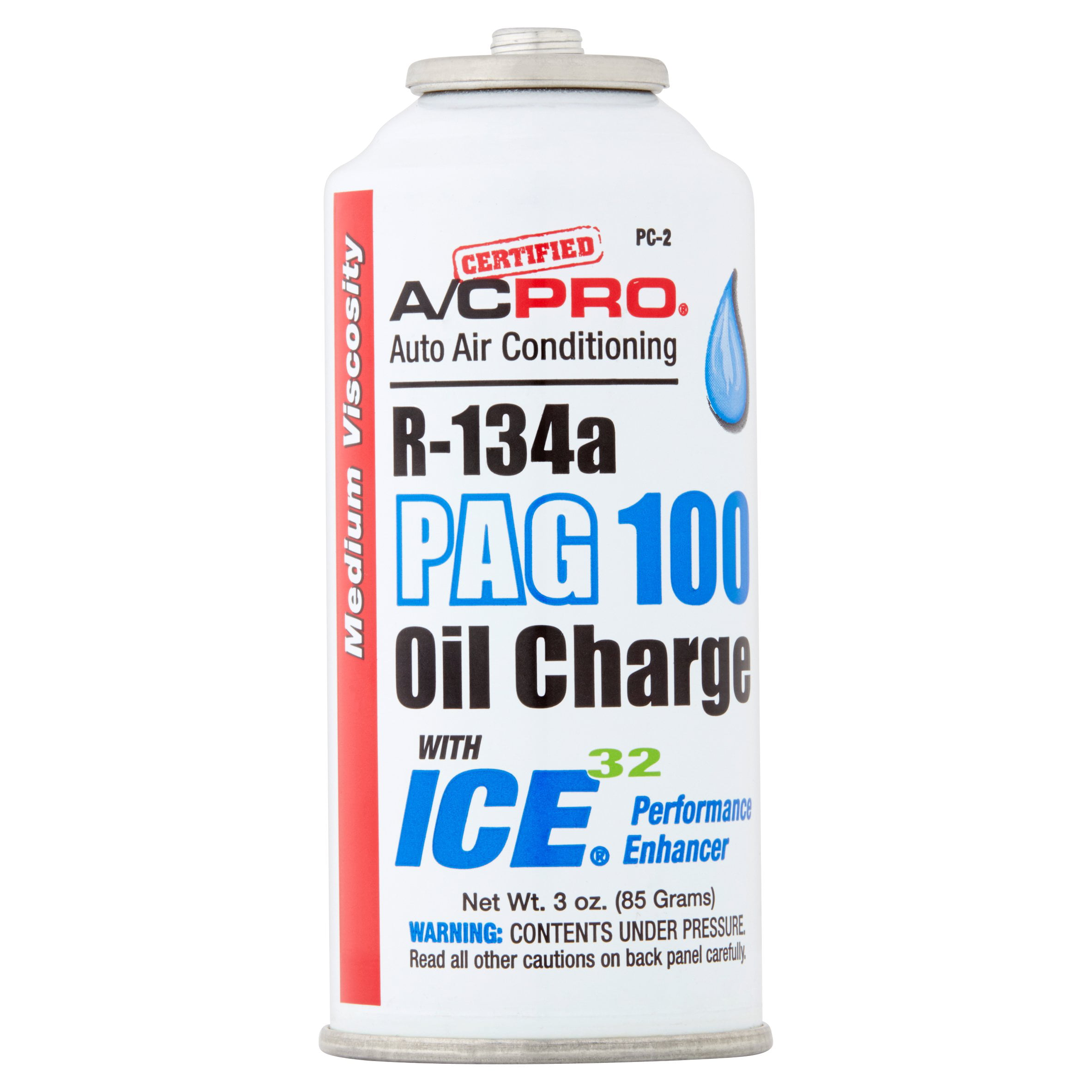 A/C Pro Auto Air Conditioning R-134a PAG 100 with Ice 32 Oil Charge
