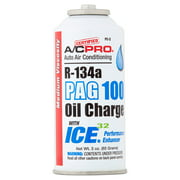 A/C Pro Auto Air Conditioning R-134a PAG 100 with Ice 32 Oil Charge, 3 oz