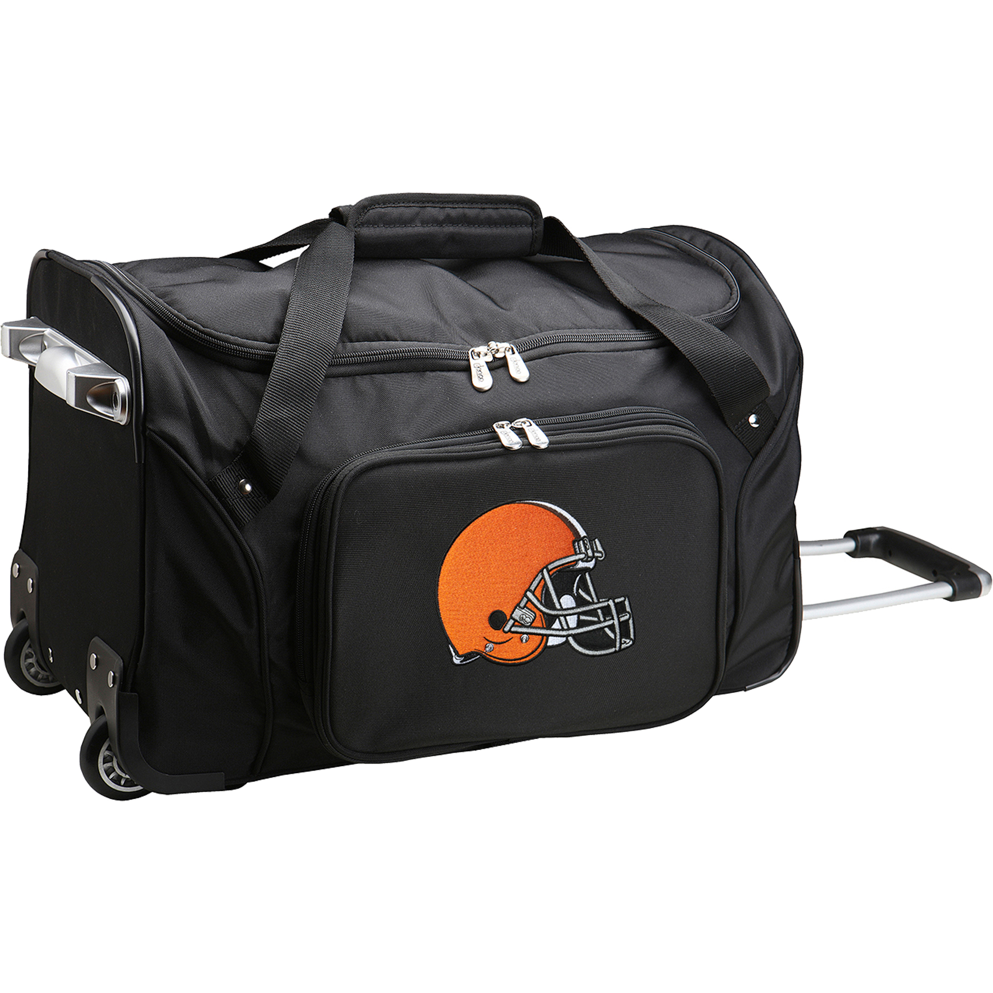 """Cleveland Browns 22"""" 2-Wheeled Duffel Bag - Black - No Size"""
