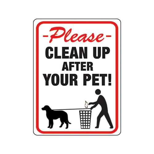 Hy-Ko Prod 20617 Clean Up After Your Pet Sign , 8.5 x 12-In. - Quantity 10