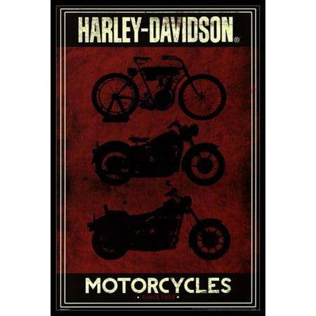 Harley Davidson - Motorcycles Poster Poster Print - Harley Davidson Decoration