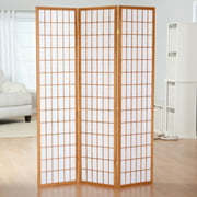 GTU Furniture Japanese Style 3 Panels Wood Shoji Room Divider Screen Oriental for Home/Office