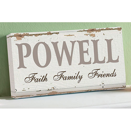 "Personalized ""Faith, Family, Friends"" Canvas, 5"" x 11"""