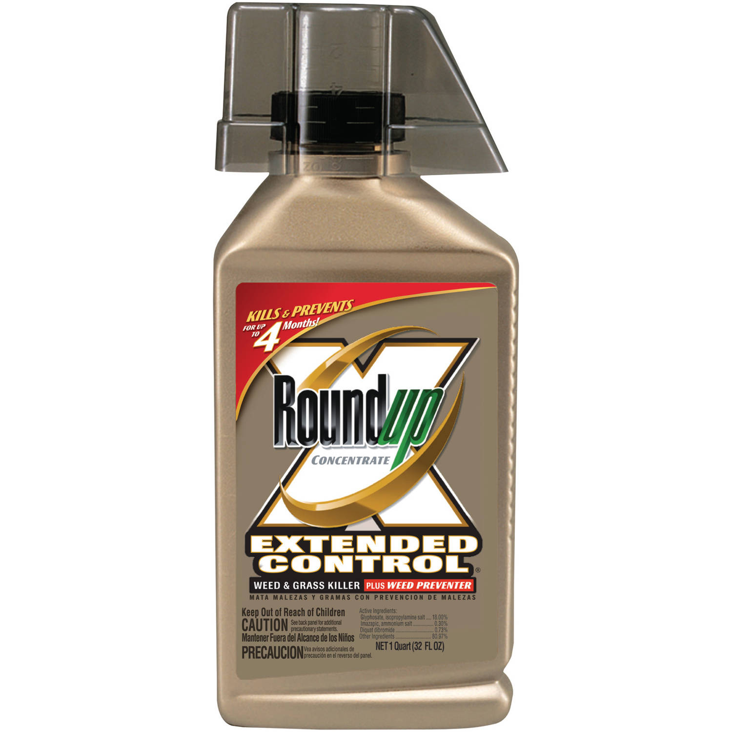 Roundup Concentrate Extended Control Weed & Grass Killer Plus Weed Preventer, 32 oz