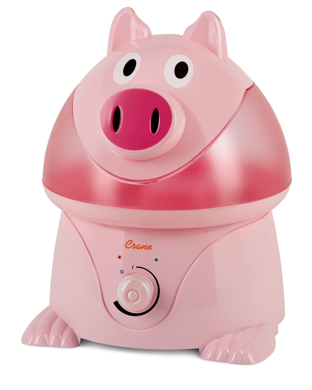 Crane Adorable Ultrasonic Cool Mist Humidifier - Pig - Walmart.com