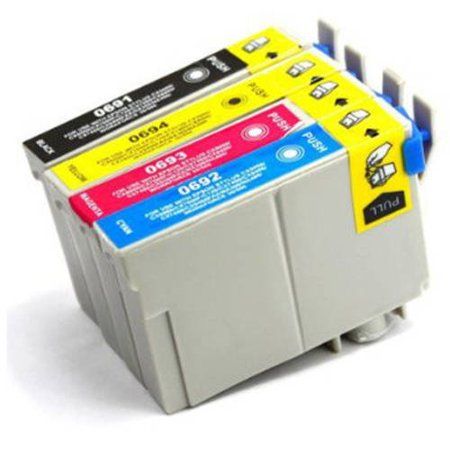 Universal Inkjet Remanufactured Multipack for Epson 69, - 10 Remanufactured Inkjet Cartridges