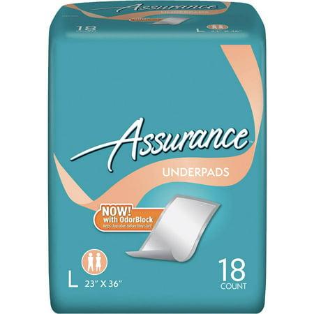 Assurance Underpads Large 18 Ct