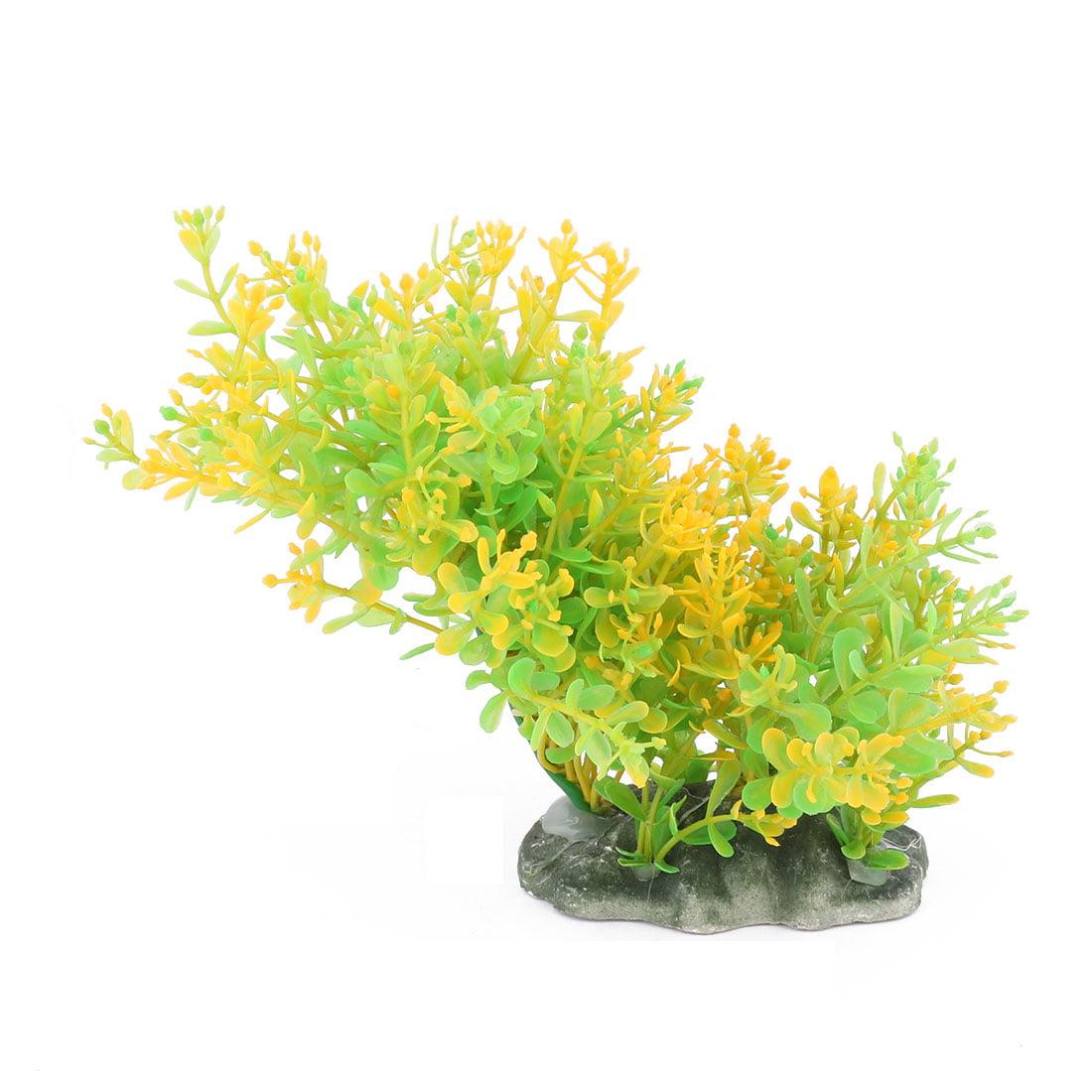 Aquarium Fish Bowl Simulation Landscape Plant Grass Decoration Green Yellow