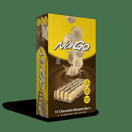 NuGo Family Protein Bar, Chocolate Banana, 15g Protein, 15