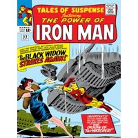 Marvel Comics Retro: The Invincible Iron Man Comic Book Cover No.53, Black Widow Strikes Again Poster Wall Art