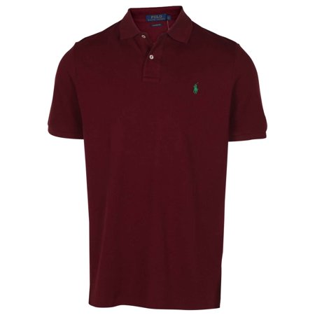 Polo RL Men's Classic Fit Mesh Pony Shirt (Red Wine, (Mint Green Ralph Lauren Polo)