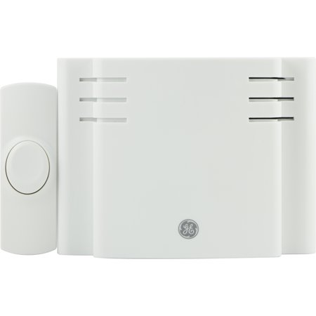 GE Wireless Door Chime Kit, 8 Melody, Battery-Operated, 19248
