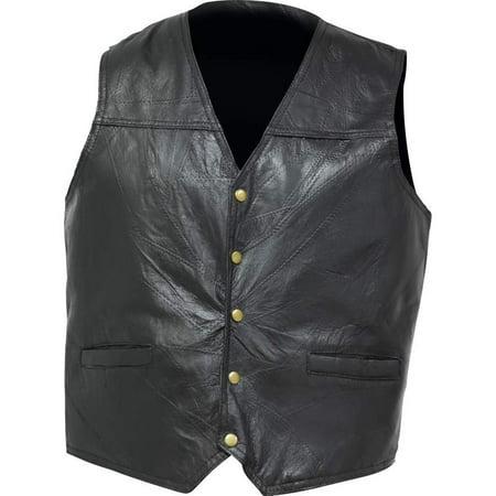 Giovanni Navarre® Italian Stone™ Design Genuine Leather Concealed Carry Vest