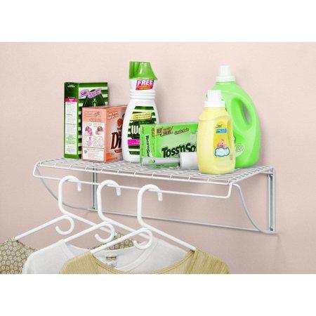 ClosetMaid  White Stainless Steel Laundry Shelf