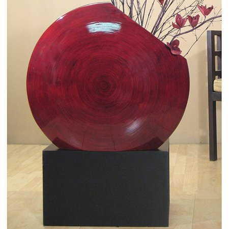 Shopping the Globe Black Vase Stand for Giant Bamboo Circle Vase ()