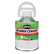 Slime Rubber Cement W/ No-Mess Brush Applicator 8 oz.- 1050