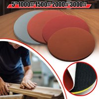20Pcs/Set 5'' 1000 1500 2000 3000 Grit Sanding Disc Sand Paper Hook Loop Sandpaper