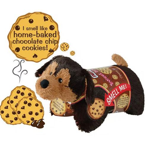 Pillow Pets Girls Brown Cookie Pup Plush Chocolate Sweet Scented Toy