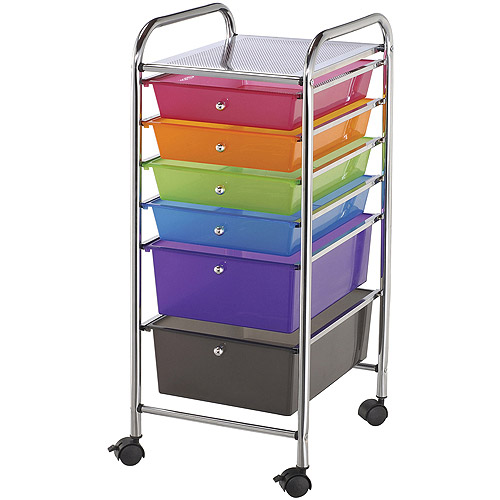 "Storage Cart with 6-Drawers, 13"" x 32"" x 15.5"""