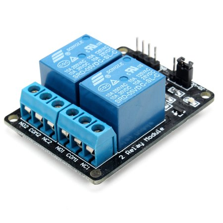- 2 Way Relay relay module Module With Optocoupler Protection Voltage 5V Contact capacity 250V 10A