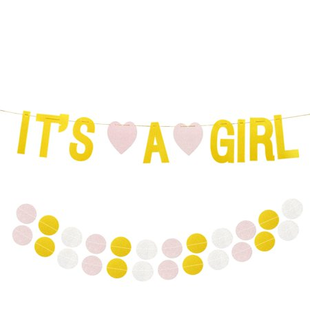 Baby Shower Decoration - It's A Girl Gender Reveal Bunting