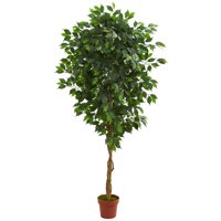 Nearly Natural 6ft. Artificial Ficus Silk Tree, Green