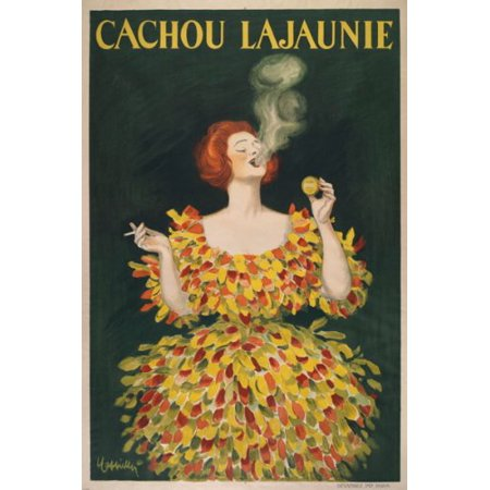 Vintage French Cachou Lajaunie Mint Ad Poster Rare Dress Elegant 24X36