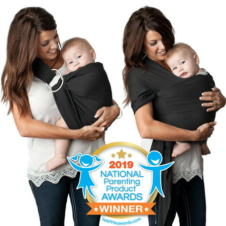 Kids N' Such 4 in 1 Baby Wrap Carrier and Ring Sling - Use as a Postpartum Belt or Nursing Cover - FREE Carrying Pouch - Best Baby Shower Gift for Boys or Girls - Premium Cotton Blend -