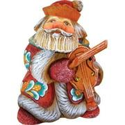 GDeBrekht 517638 Mini Violin Santa Figurine, 4 in.