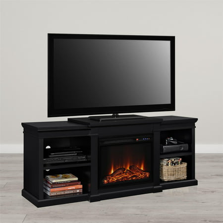 - Ameriwood Home Manchester Electric Fireplace TV Stand for TVs up to 70
