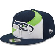 Seattle Seahawks New Era Wave 9FIFTY Snapback Hat - White/College Navy - OSFA