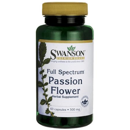 Swanson Full-Spectrum Passion Flower 500 mg 60 - 1 Grain Passion Flower Herb