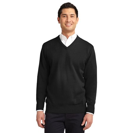 Mens Classic V-neck Sweater - Port Authority Men's Value V-Neck Sweater