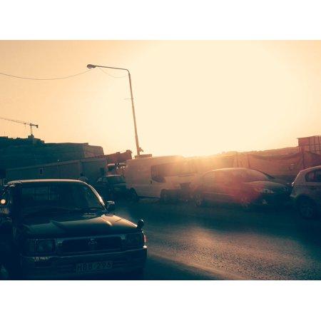 Maytag Frame (Framed Art for Your Wall Street Vintage Light Malta Car Grunge Sunset 10x13 Frame)
