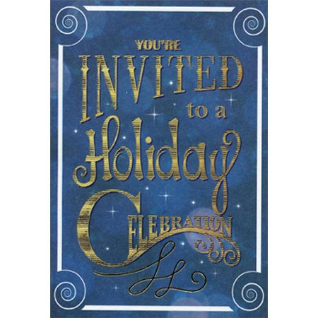Designer Greetings A Holiday Celebration - Package of 8 Christmas Party Invitations](Holiday Potluck Invitation)