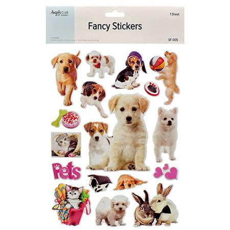 New 381874  Angels Craft Fancy Sticker Animal (12-Pack) School Supplies Cheap Wholesale Discount Bulk Stationery School Supplies Hour - Cheap Stickers