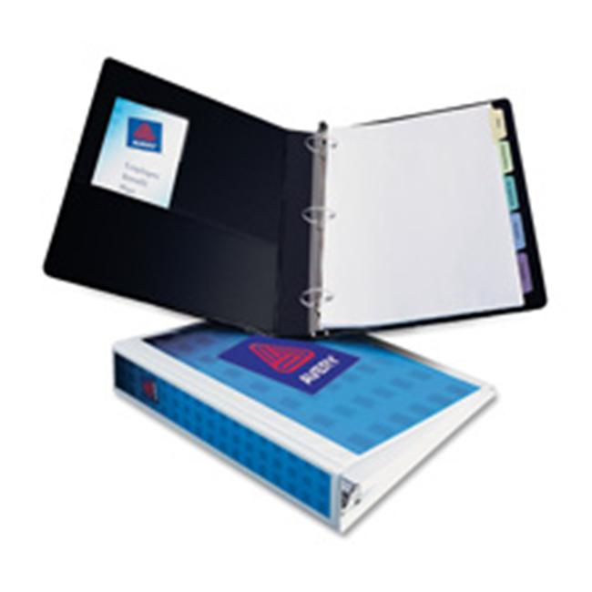 Consumer Products  View Binder- EZ-Turn Ring- w- Four Pockets- 1in. Cap.- Black