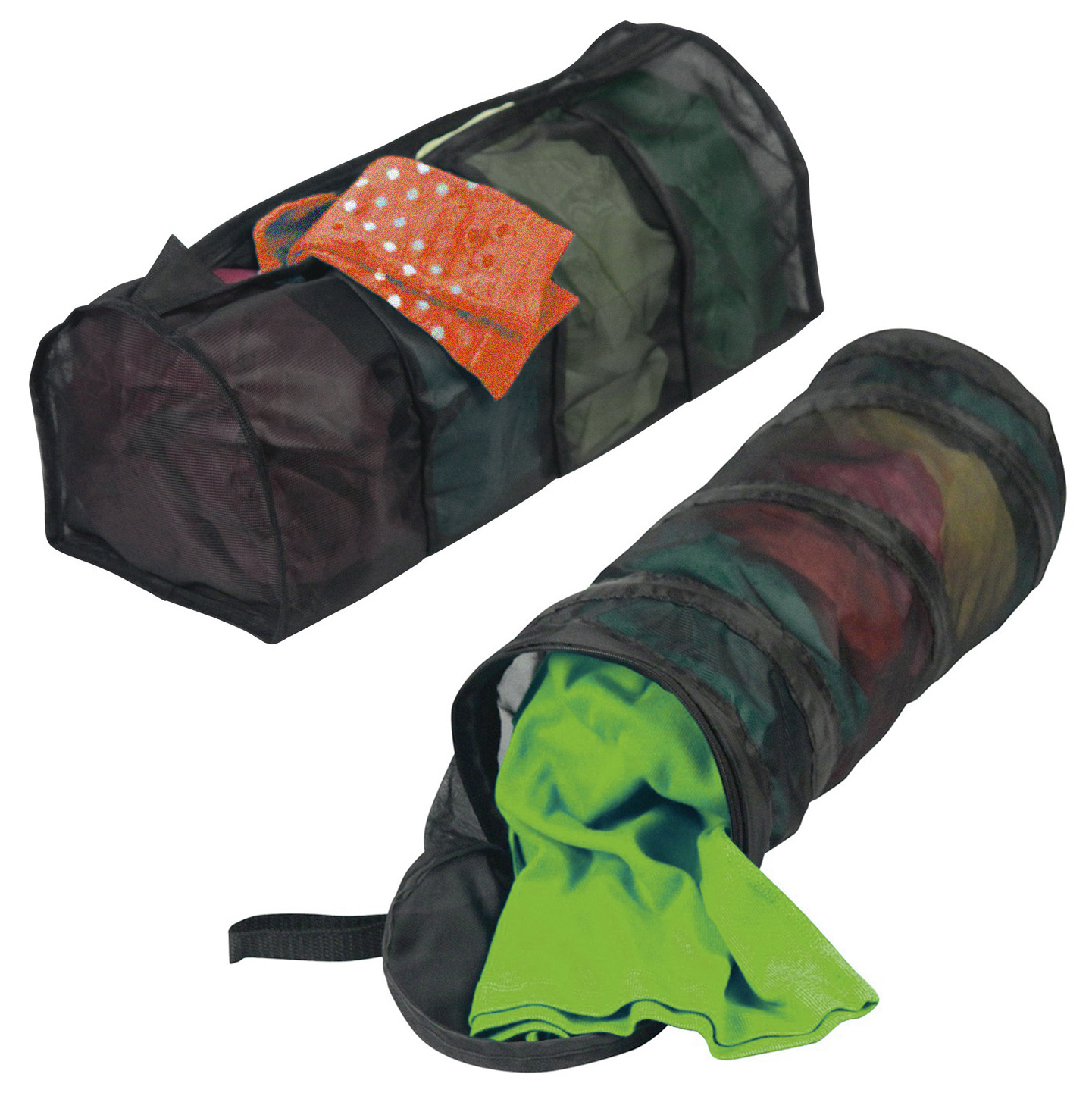 Set of 2 Large Mesh Laundry Wash Bags With Zipper Washing Machine For Delicates, Lingerie & Hosiery