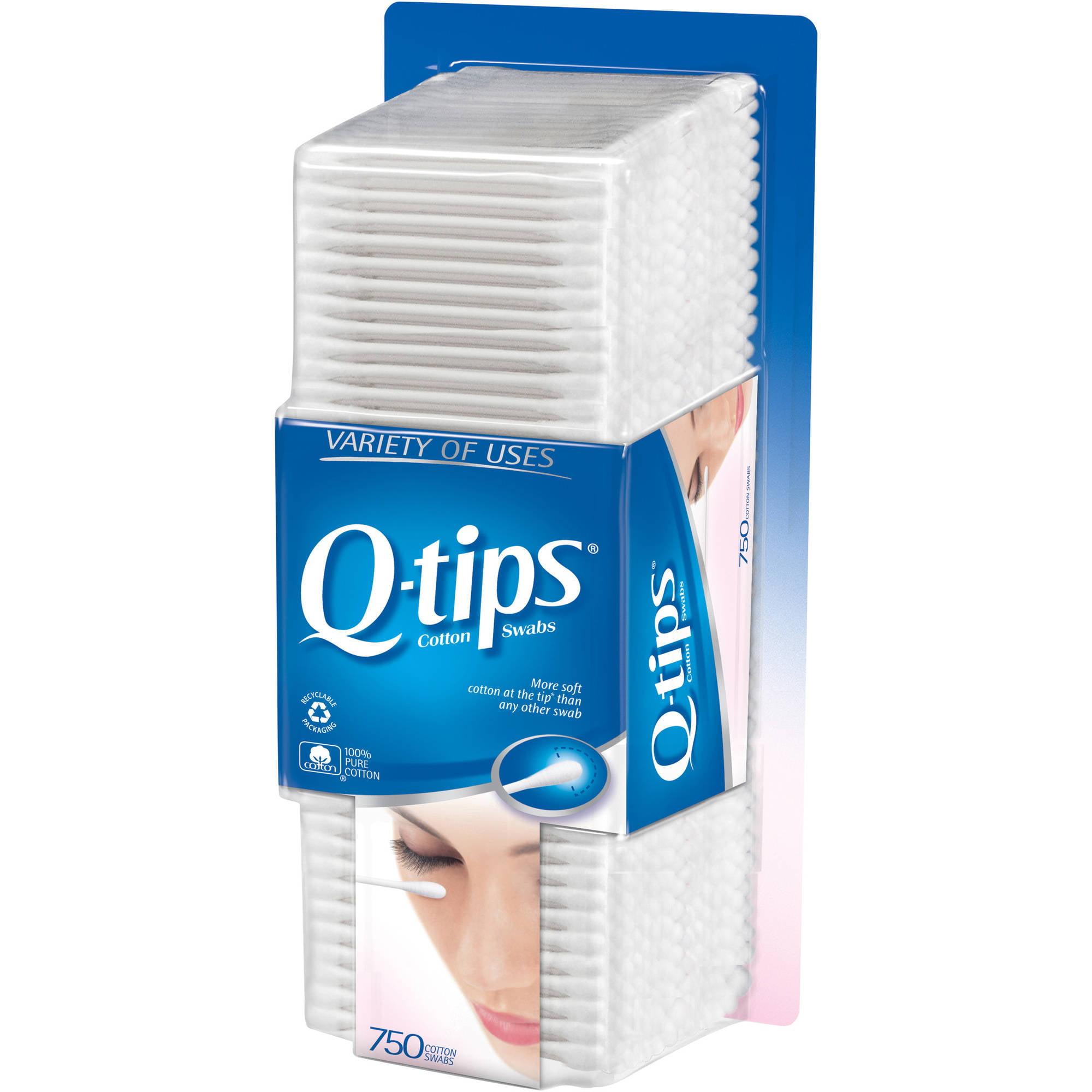 Q-tips Cotton Swabs, 750 count