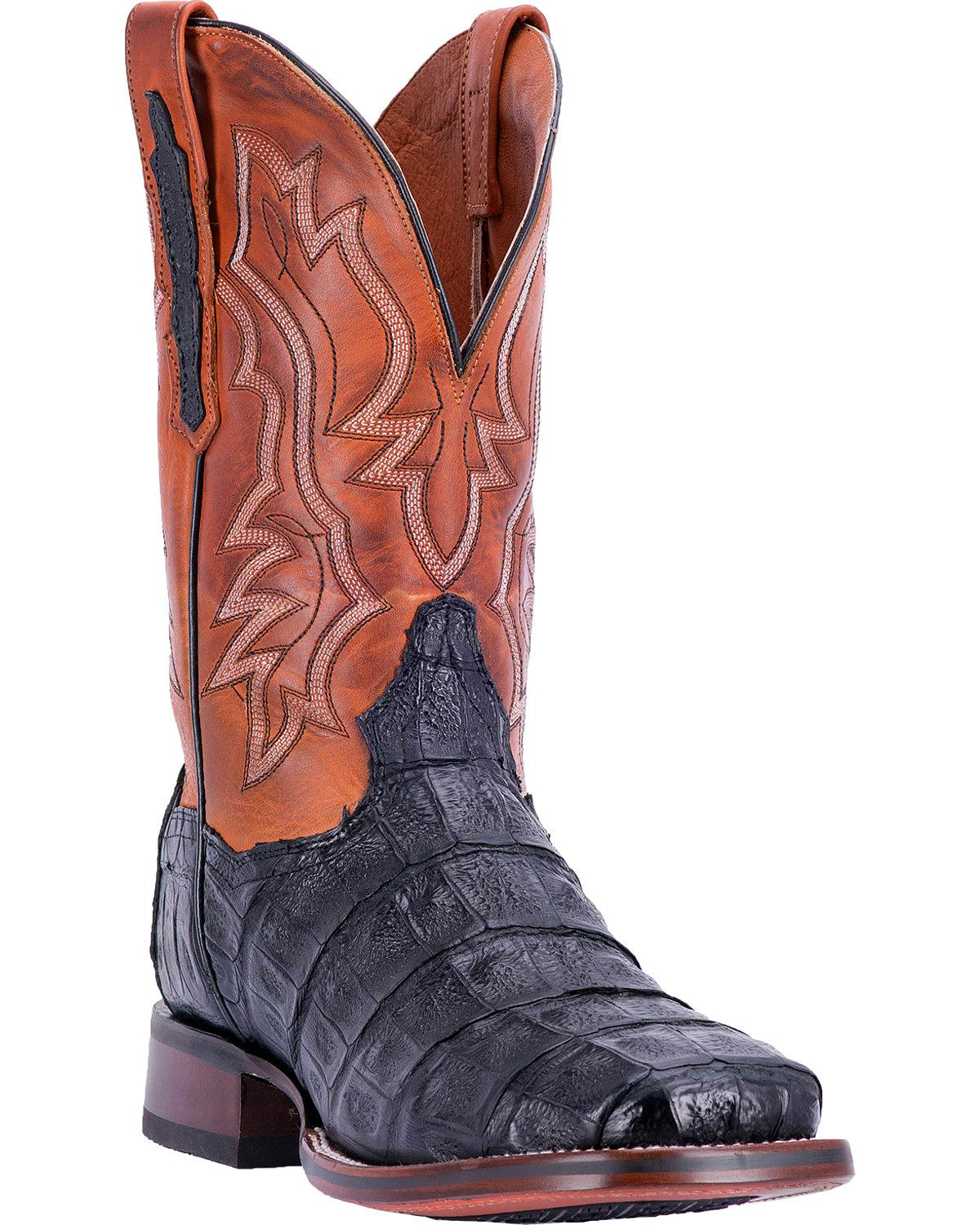 Dan Post Men's Bishop Caiman Tail Cowboy Certified Boot Square Toe Dp4537 by Dan Post