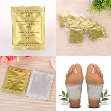 10 Detox Gold Kinoki Foot Patch Pad Natural Plant Herbal Toxin Removal