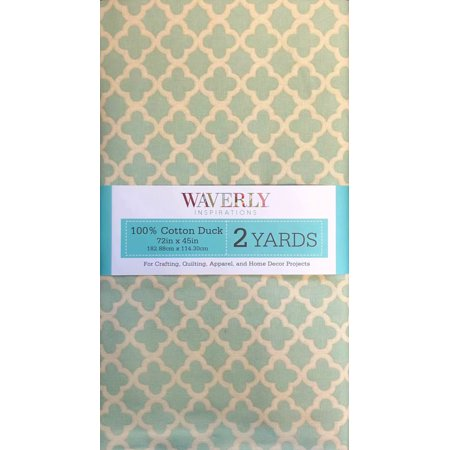 """Waverly Inspirations Cotton 45"""" Pre-Cut Medal Spa Fabric, 1 Each"""