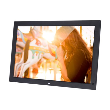 18.5 Inch Wide Screen 1366 * 768 High Resolution LED Digital Photo Frame Digital Album with Remote Control Motion Detection Sensor Support Audio Video Playing Clock Alarm Calendar Functions Support Mu - image 4 of 7