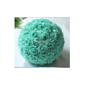6 inch Rose Flower Pomander Wedding decoratin Ball Silk Kissing Ball Rose Flowers Balls-Mint - Kissing Ball