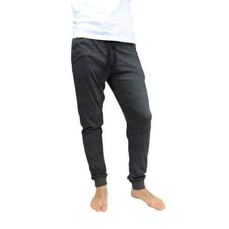 Black Mens Sleep Pant - Mens Marled Sleepwear Pants